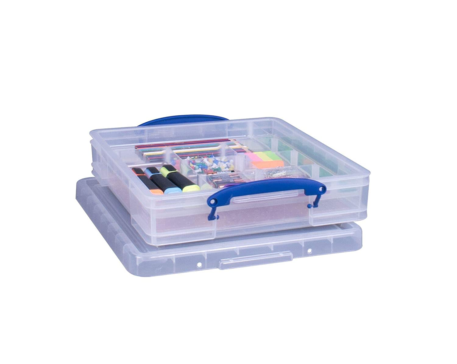 Really Useful Storage Box 7 Litre Clear with Hobby Tray REALUSE 7C+TRAYCB