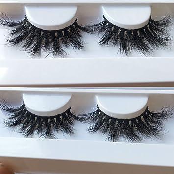 22b60a57c72 Amazon.com : Nicewig Handmade luxurious 100% Real Mink Natural Long Cross  False eyelashes reusable Makeup Crisscross Fake eye lashes Extension 1 Pair  014 : ...