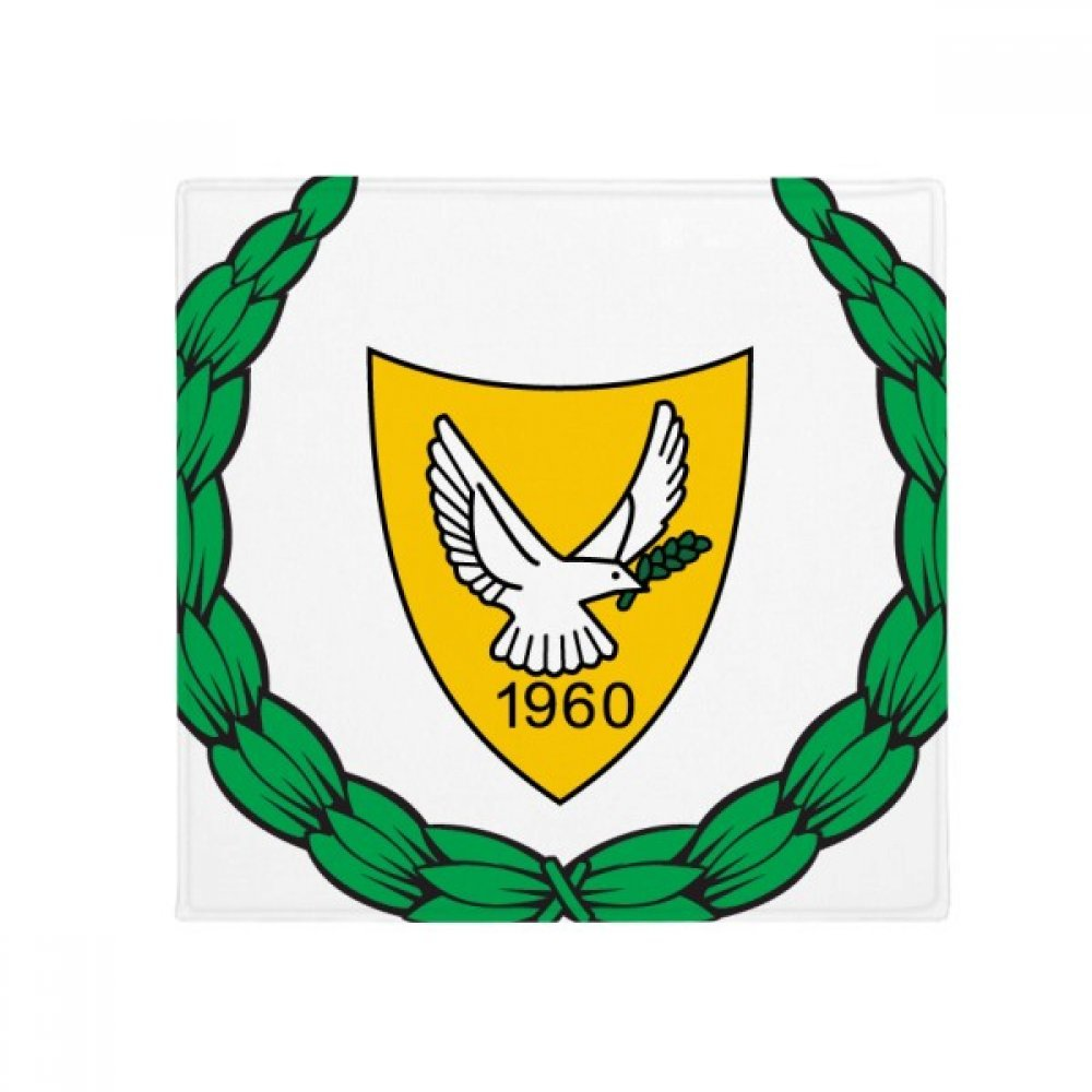 DIYthinker Cyprus National Emblem Country Anti-Slip Floor Pet Mat Square Home Kitchen Door 80Cm Gift