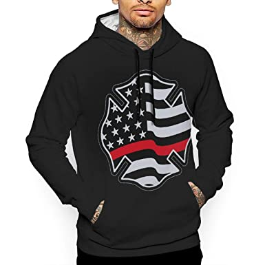 1734321d33f6 Amazon.com: Firefighter Red Line Flag Mens 3D Printed Hoodies Casual  Pullover Hoodie Hoodies Sweatshirt: Clothing