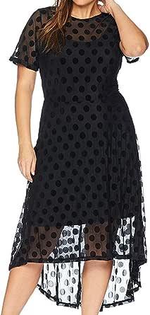 City Chic Women's Apparel Women's Plus Size Dress SPOT Flock