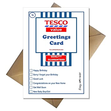 Tesco value birthday card supermarket spoof funny a5 basic card tesco value birthday card supermarket spoof funny a5 basic card bookmarktalkfo Images