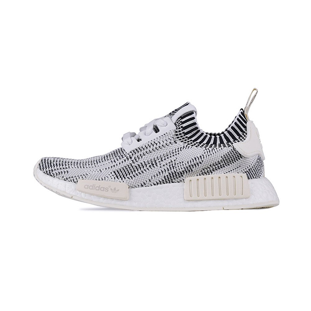 Grey, white, blk-crm Adidas Originals Men's Primeknit NMD_R1 Running shoes (Black)