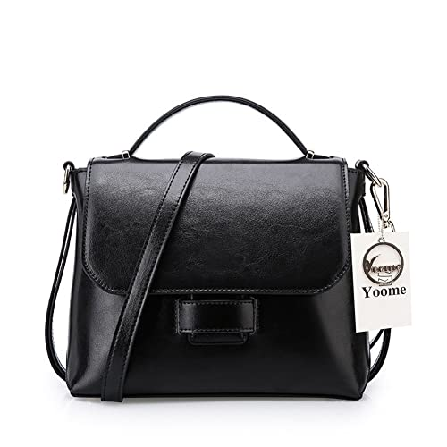 5a15037d3997 Yoome Cowhide Leather Daily Crossbody Bag Handbag Vintage Shoulder Bags  Purses Cell Phone Bags for Women