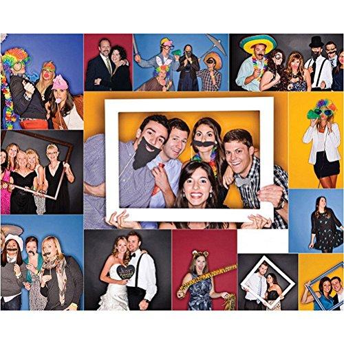 Veewon Hochzeit Fotorequisiten Party Foto Booth Requisiten Dekoration Lustige Photobooth St/ützen 31pcs befestigt auf den Stick NO DIY Erforderlich