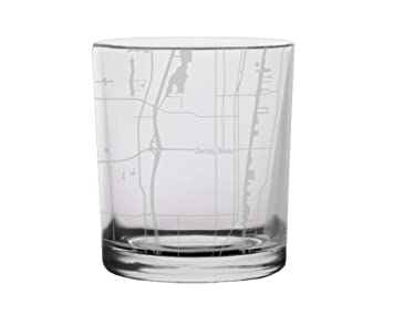 Delray Florida Map.Amazon Com Delray Beach City Map Whiskey Glass Florida Kitchen