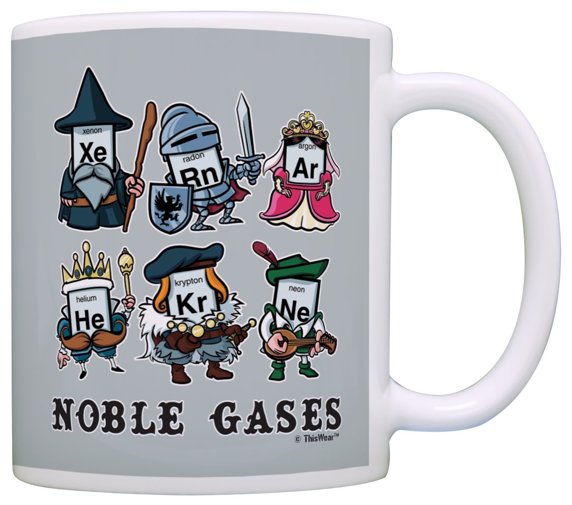 Amazon funny science gifts noble gases periodic table gift amazon funny science gifts noble gases periodic table gift coffee mug tea cup gray kitchen dining gamestrikefo Image collections