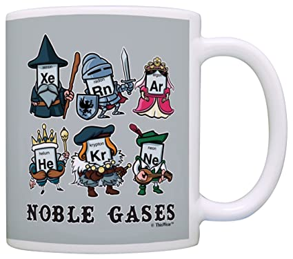 Amazon funny science gifts noble gases periodic table gift funny science gifts noble gases periodic table gift coffee mug tea cup gray urtaz Gallery
