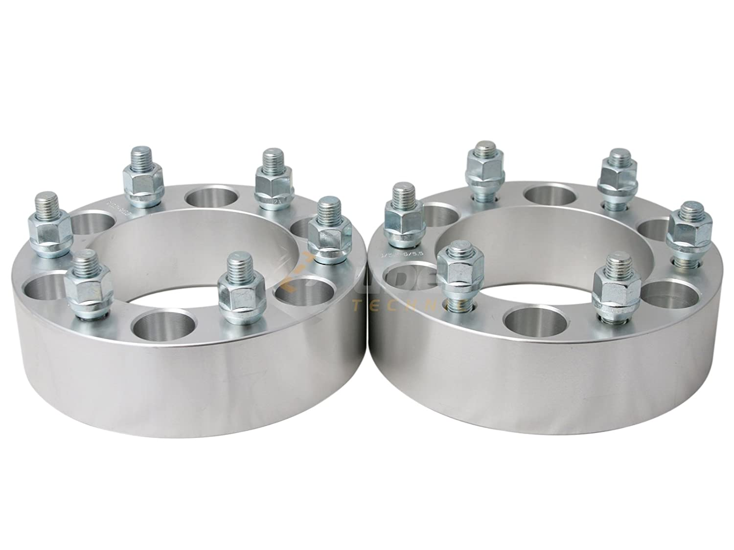108mm bore, 12x1.5 studs 2 6x5.5 to 6x5.5 Wheel Spacers Pack of 2 Compatible with Chevy Colorado GMC Canyon Honda Passport Hummer H3 H3T Lexus GX470 Toyota Tacoma Tundra UberTechnic 6x139.7