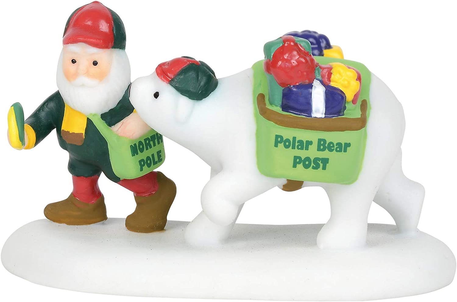 Department 56 North Pole Village Accessories Polar Bear Post Figurine, 1.5 Inch, Multicolor