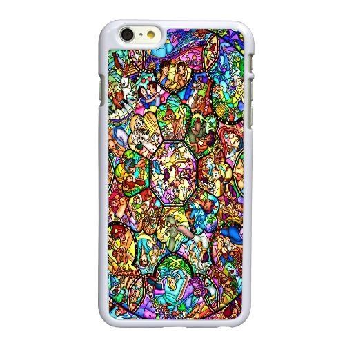 Disney-Buntglas iPhone 6 6S plus 5,5 Zoll-Handy-Fall hülle weiß P3W7BTBTNT