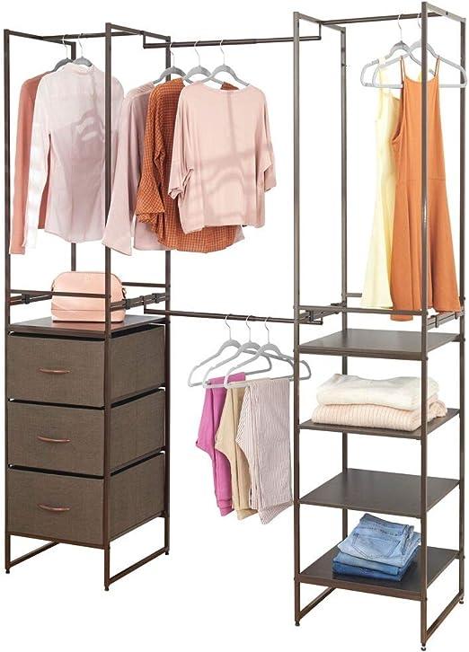 Amazon Com Mdesign Modular Closet Organizer System Storage