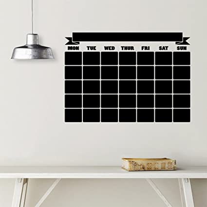 amazon com monthly planner wall calendar decal 2017 vinyl decal