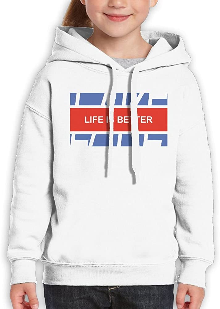 DTMN7 Life Is Better At The Lake Athletic Printed 100/% Cotton Hoodie For Teen Boy Spring Autumn Winter