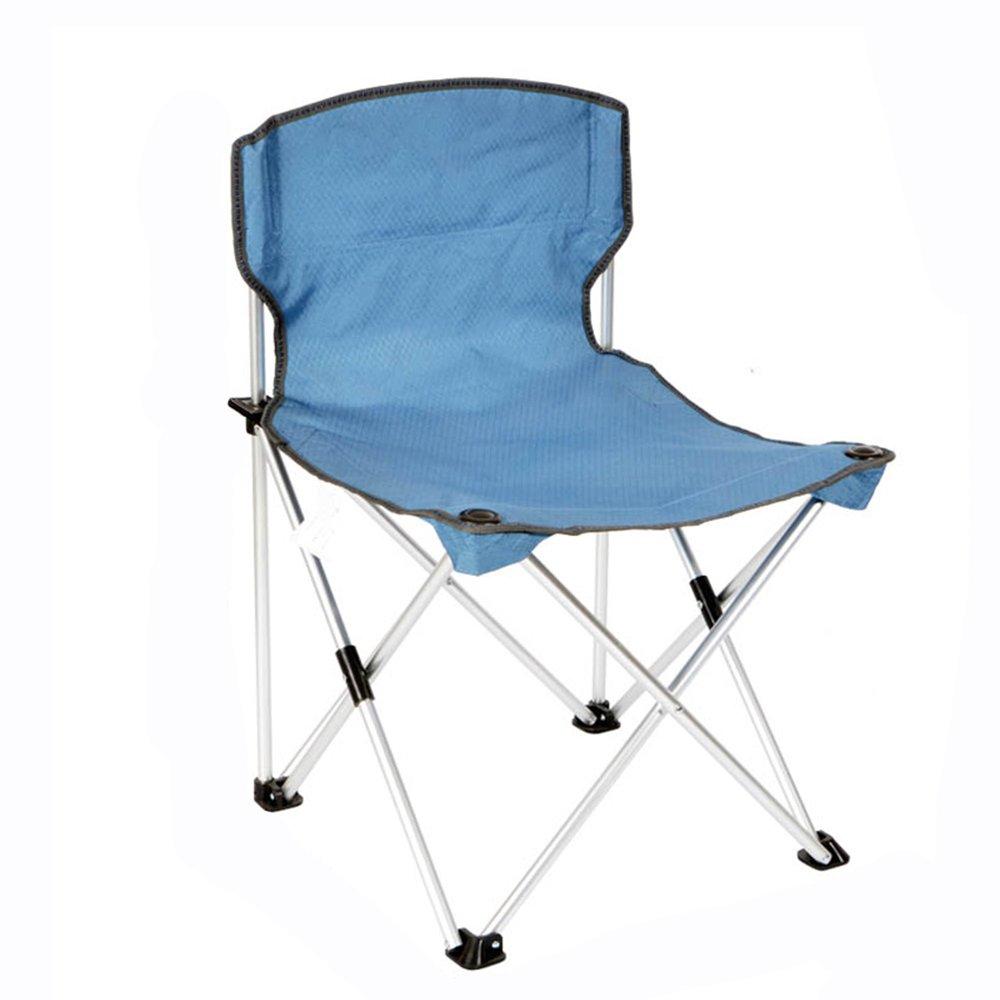 QFFL 屋外アルミ合金折りたたみチェア/ポータブルビーチ実用的な背もたれの椅子/補強ポータブル釣りの椅子/ガーデンラウンジチェア アウトドアスツール (色 : D) B07F8QT2HL D D