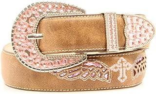 Blazin Roxx Western Belt Girls Kids Cross Glitter 22 Brown N4433602