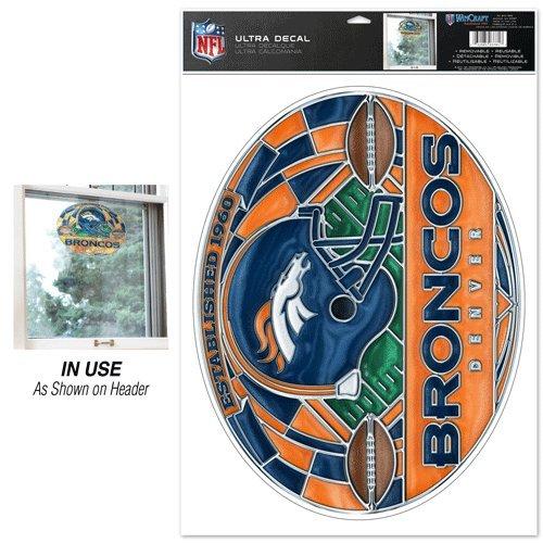 Denver Broncos Ultra Decal Stained (Denver Broncos Nfl Stained Glass)