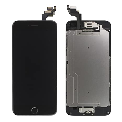 official photos 9d435 206a7 LL TRADER Screen Replacement for iPhone 6 (4.7 inch) Black LCD Touch  Digitizer Full Display Assembly with Home Button+Front Facing Camera  Proximity ...