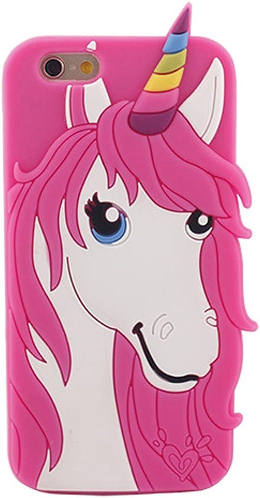 Nouveau téléphone Licorne Coque iPhone 4 5 7 7s 6 6S Galaxyj710 S7 S6 souple en silicone gel protection, Pink iphone6S