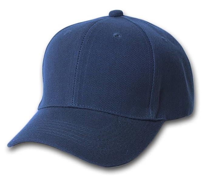 Amazon.com  Magic Plain Fitted Hat - Navy  Clothing 7008f68b8f2