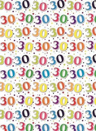 Especial edad 30 regalo embalaje papel 1 hoja y coincidencia ...