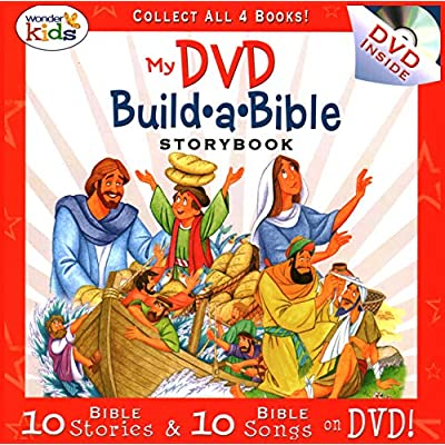 My Build A Bible Storybook set of 4 books with 4 CDs - 25 stories per book & 25 songs per CD: Toys & Games
