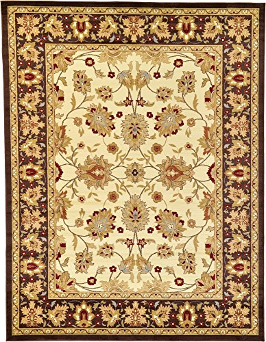 Beige Mahal Rectangle Rug - Unique Loom Voyage Collection Traditional Oriental Classic Cream Area Rug (9' 0 x 12' 0)