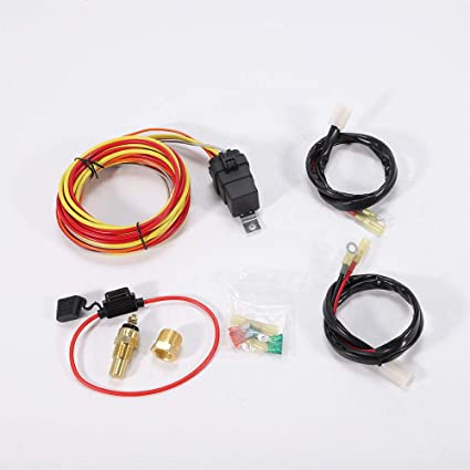 amazon com bstool dual electric cooling fan wiring harness installimage unavailable image not available for color bstool dual electric cooling fan wiring harness