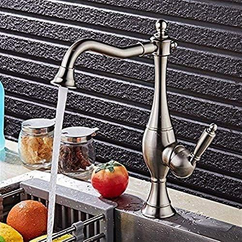 ShiSyan 立体水栓 万能水栓 キッチンバスルームホットとコールド蛇口の水差し形の蛇口シート径35mmの銅素材防錆 混合水栓
