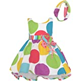 Bonnie Jean Baby Girls Multi Color Polka Dots Balloon Birthday Dress 12M