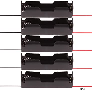 Everpert - Caja de Almacenamiento de plástico para 1 Soporte de batería 18650 (5 Unidades): Amazon.es: Electrónica