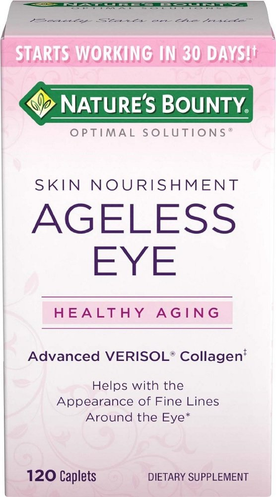 Nature's Bounty Optimal Solutions Ageless Eye Verisol Collagen, 120 Ct (6 Pack)