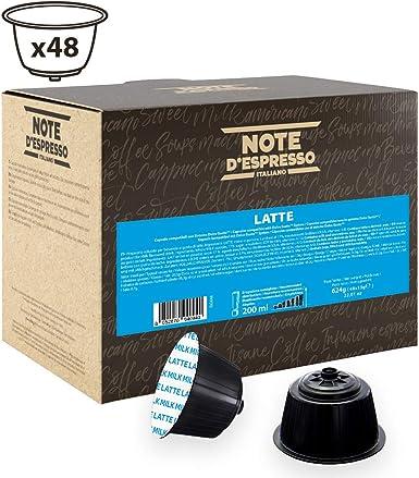 Note DEspresso Cápsulas, Leche Exclusivamente Compatibles con cafeteras de cápsulas Nescafé* y Dolce Gusto* 48 Unidades 13 g, Total: 624 g: Amazon.es: Alimentación y bebidas