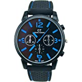 ES Trader® Casual Quartz Mens Military Watches Stainless Steel Analog Sport Wrist Watch