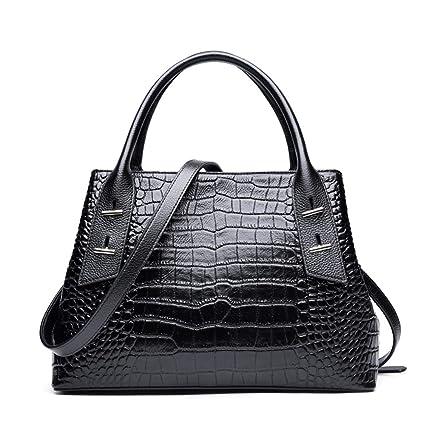 Amazon.com: GAOQQ - Bolso de piel auténtica para mujer, con ...