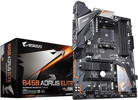 Gigabyte B450 Aorus Elite carte Mere AMD B450 – nero: Amazon.it ...