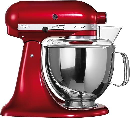 Kitchenaid Artisan 5KSM150PSECA - Robot de cocina, color rojo [Importado de Alemania]: Amazon.es: Hogar