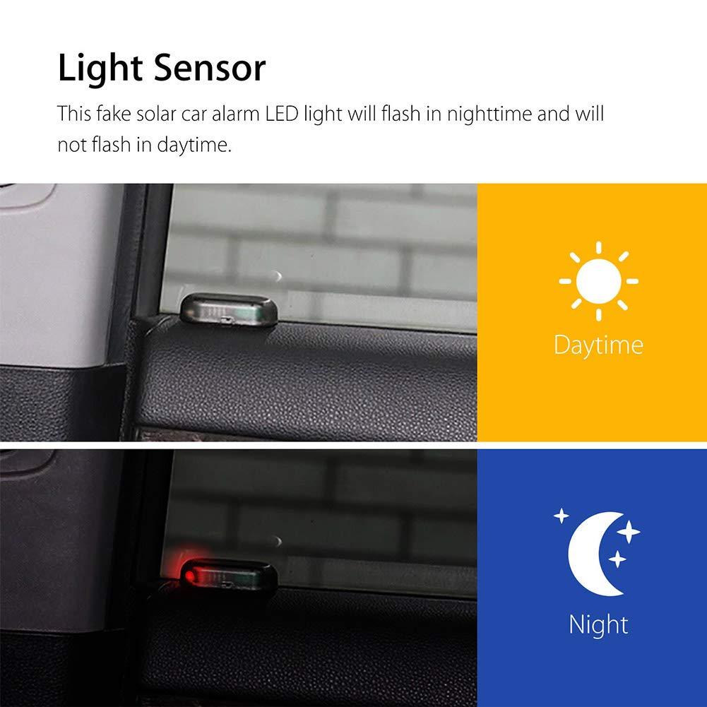Alftek Falso Solar Auto Alarma LED Luz Auto Security Sistema antirrobo Flash Parpadea l/ámpara de Advertencia