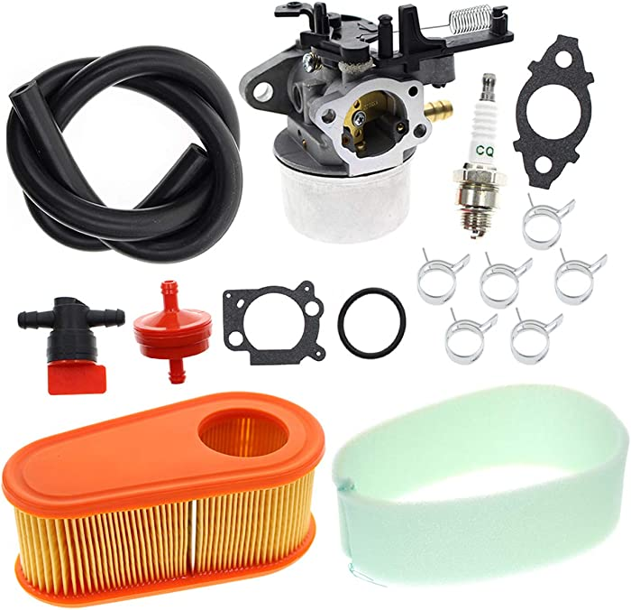Carbhub 591137 Carburetor for Briggs and Stratton 591137 590948 775EX Lawn Mower Engine Carb 795066 796254 with Air Filter - 590948 775EX Carb