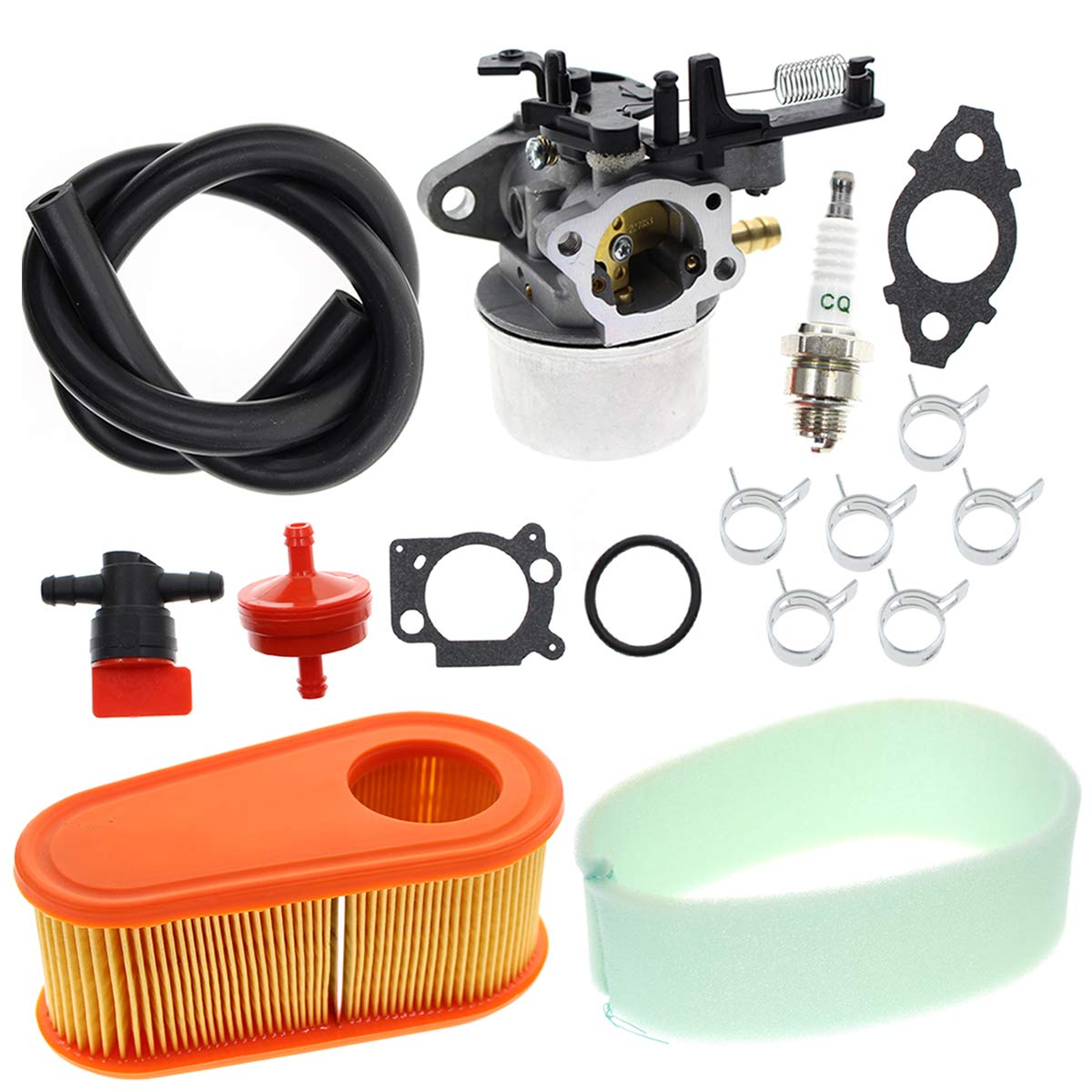 Carbhub 591137 Carburetor for Briggs and Stratton 591137 590948 775EX Lawn Mower Engine Carb 795066 796254 with Air Filter - 590948 775EX Carb by Carbhub
