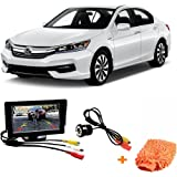 Fabtec Premium Quality 5.0 Inch Full Hd Dashboard Screen With LED Night Vision Water proof Car Rear View Reverse Parking Camera With Microfiber Glove Free For Honda Accord