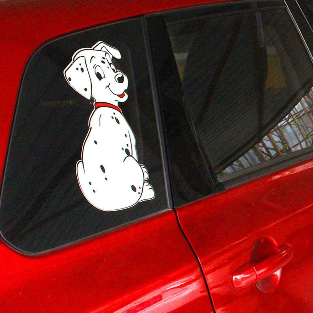 Cartoon Funny Spotted Dog Pattern Sticker Car Window Wiper Decals Rear Windshield Sticker Car-Styling Decoration Sticker Fashionable Car Styling Sticker