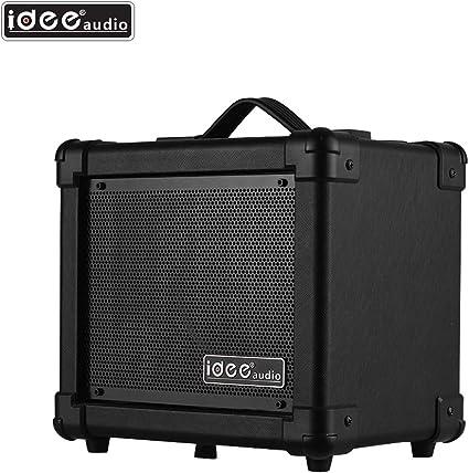 Festnight IDEEAUDIO AA-1 Amplificador para altavoz para guitarra eléctrica portátil de mesa Wireless BT 10 W Combo Amp Black Plug: Amazon.es: Instrumentos musicales