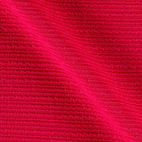 TELIO High Low Pique Knit Fuschia Fabric By The Yard - Pique Knit Fabric