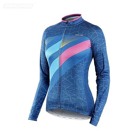 Traje de jersey de ciclismo para mujer Camisa de manga larga ...