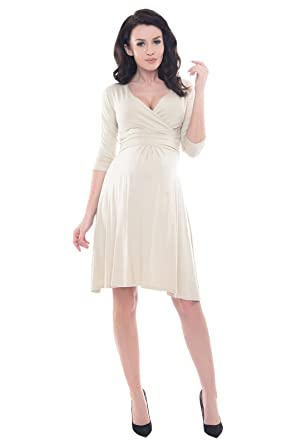 4f2df9cf7ea0e Purpless Maternity Classic Pregnancy Dress Vneck A line 4400: Amazon ...