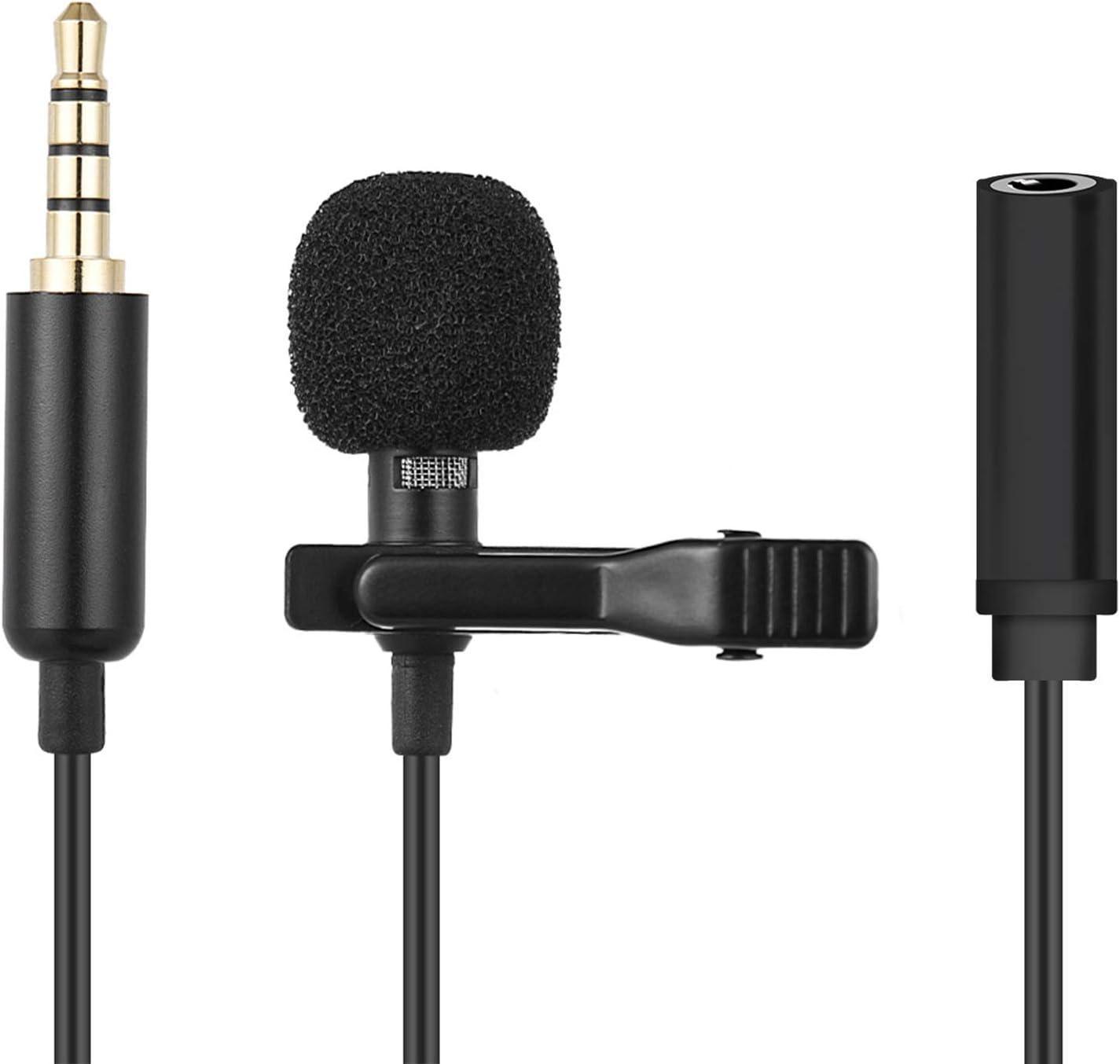 Blizim Externe Clip-on Lavalier Lapel Microphone Audio Video avec Port Casque