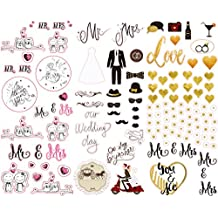 Polaroid Colorful & Decorative Wedding Stickers for Zink 2x3 Photo Paper Projects (Snap, Zip, Z2300, POP) - 3 Unique Sheets