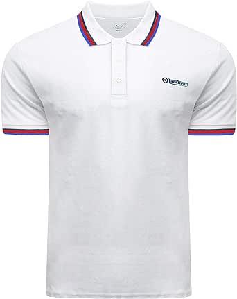 Lambretta Polo Shirts Classic Retro Tipped Collar Mens Small - 4X Large