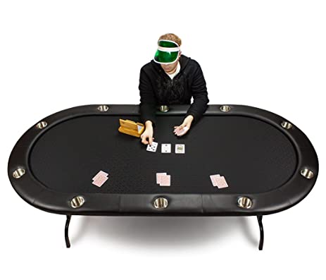 Full Size Suited Speed Cloth Poker Table   Include Bonus Poker Button Set!